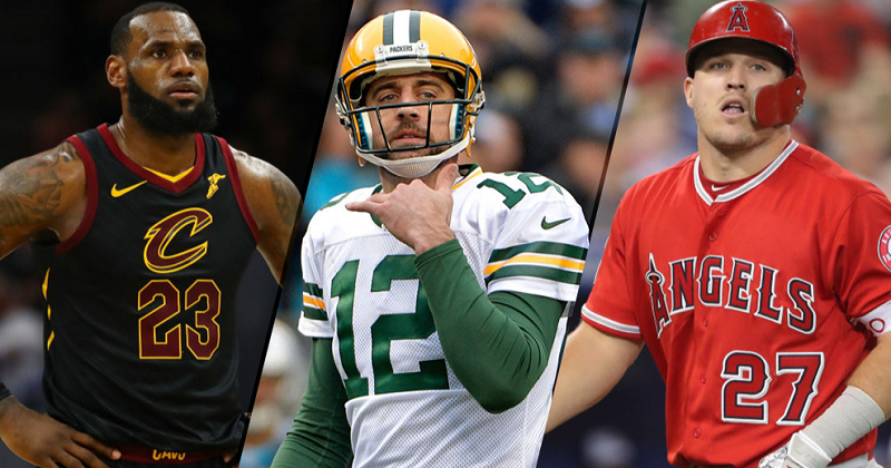 LeBron, Rodgers, Trout